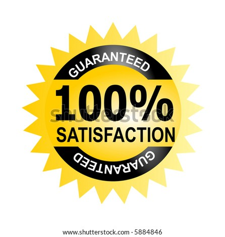 Seal 100% satisfaction guaranteed