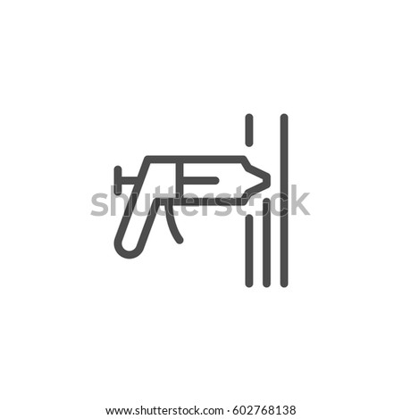 Sealant line icon isolated on white