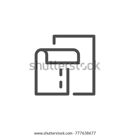 Seam line icon isolated on white