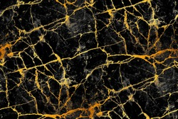 Seamles marble tile with golden veins. Luxury background. Abstract pattern.