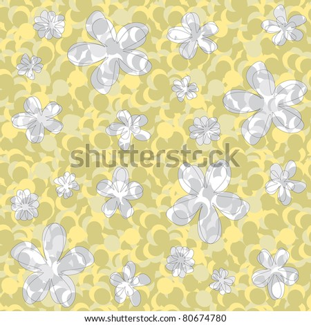 seamless abstract floral texture in green and yellow shades