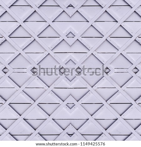 seamless abstract gray wooden fence with square lattice. background, texture.