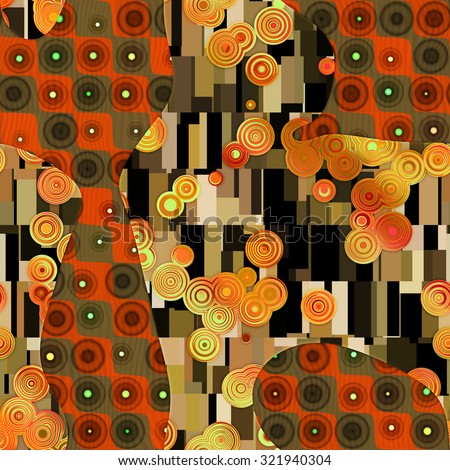 Seamless abstract pattern in Gustav Klimt style