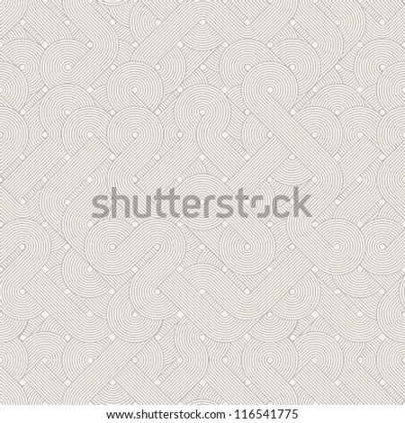 Seamless abstract pattern. Twisted lines