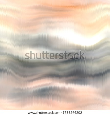 Seamless abstract pattern. Vivid degrade blur ombre radiant surreal blurry saturated digital wavy ocean water seamless repeat raster jpg swatch. Soft gentle subtle fuzzy soft out of focus blobs. stock photo