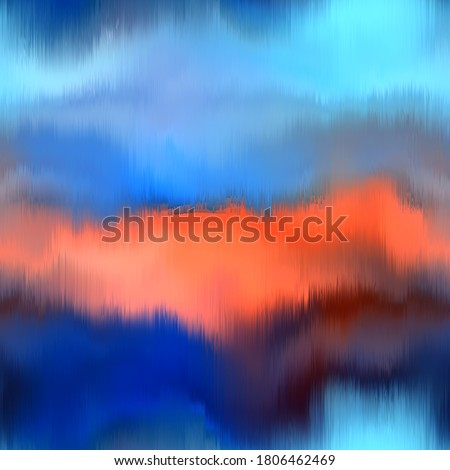 Seamless abstract pattern. Vivid degrade blur ombre radiant surreal blurry saturated digital wavy ocean water seamless repeat raster jpg swatch. Soft gentle subtle fuzzy soft out of focus blobs. Сток-фото ©