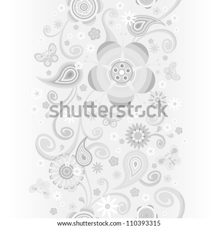 seamless abstract pattern with flowers. For easy making seamless pattern just drag all group into swatches bar, and use it for filling any contours.