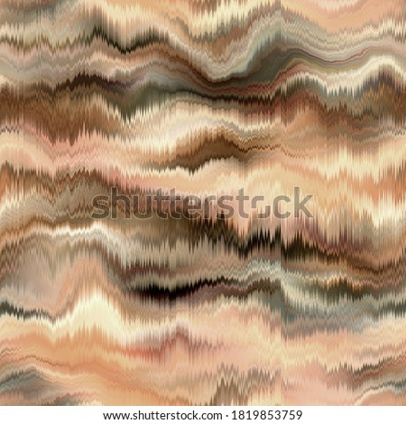 Seamless abstract wave pattern. Vivid degrade blur ombre radiant surreal blurry saturated digital wavy ocean water seamless repeat raster jpg swatch. Soft gentle subtle fuzzy soft out of focus blobs.