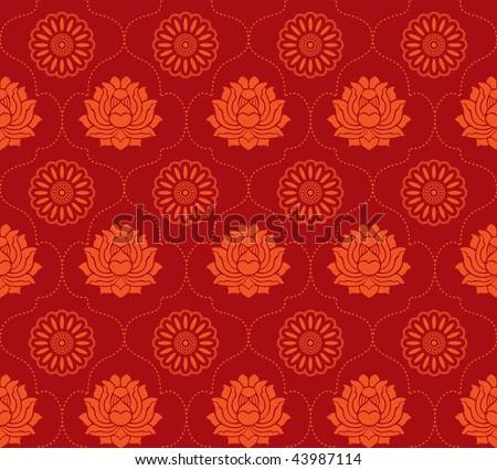 oriental wallpaper. asian wallpaper with lotus
