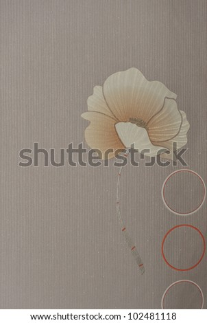 Seamless background from flowers ornament, fashionable modern wallpaper .