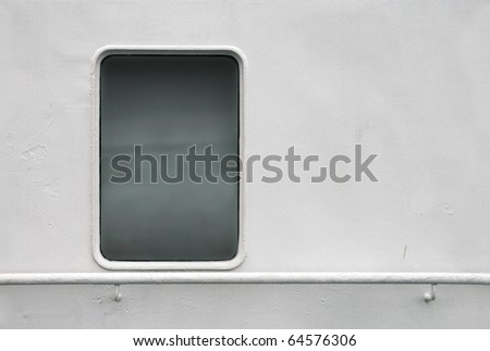 Seamless background texture photo of white painted ships wall with window and handrail