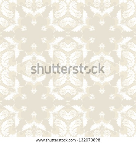 Seamless  background. Vintage ornate damask pattern. Raster copy of the vector. - stock photo