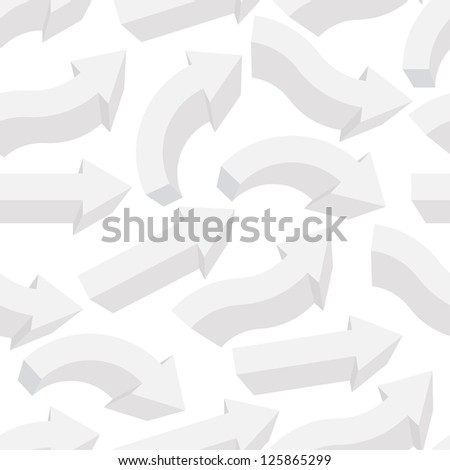 Seamless background with different arrows. Raster version, vector file available in portfolio.