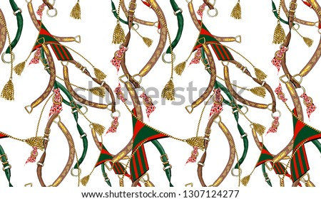 Seamless belt chain tassel baroque braid for fabric pattern design