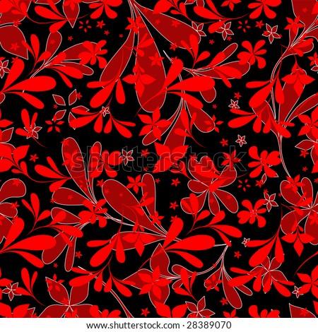 black flower wallpaper. red flower wallpaper.