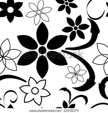 wallpaper black white. stock photo : seamless lack