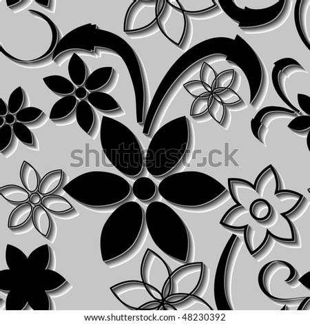 black and white floral wallpaper. and white flower wallpaper