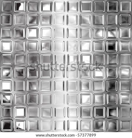 Seamless black and white glass tiles texture