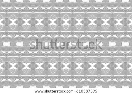 Seamless black and white symmetrical rectangle horizontal pattern for textile, ceramic tiles and backgrounds #610387595