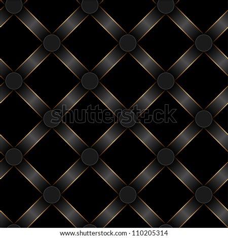 seamless black ribbon and gold strip pattern