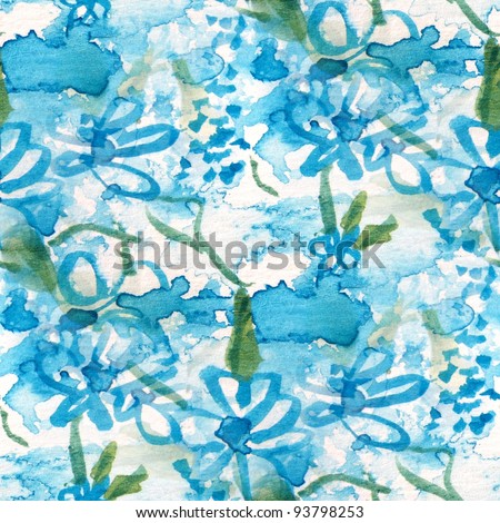 Seamless Blue Floral