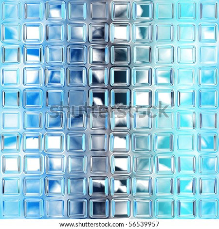 Seamless blue glass tiles texture background, kitchen or bathroom concept