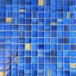 Seamless Blue Yellow glass mosaic tile texture for Pool, Jacuzzi, Fountains walls, Bathroom, Backsplash Seamless