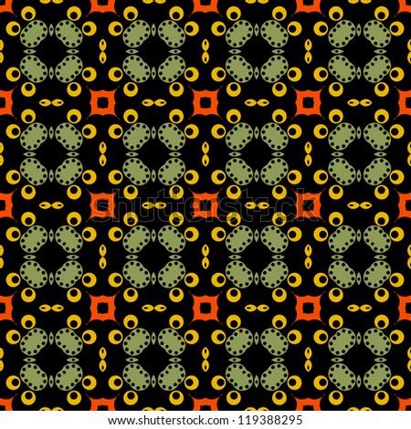Seamless Bright Kaleidoscope Pattern - stock photo