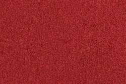 Seamless bright red carpet background texture, shot from above.