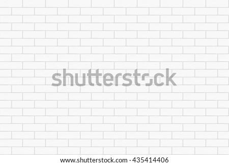 Seamless bright white tiles brick wall texture pattern background interior home design or 3d rendering
