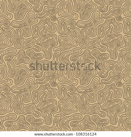 Seamless brown abstract hand drawn pattern