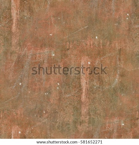 Seamless brown texture of scratchedcracked iron wall in HDR mode for game design #581652271