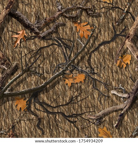 Photo of  SEAMLESS CAMO PATTERN DEAD WOOD OAK
