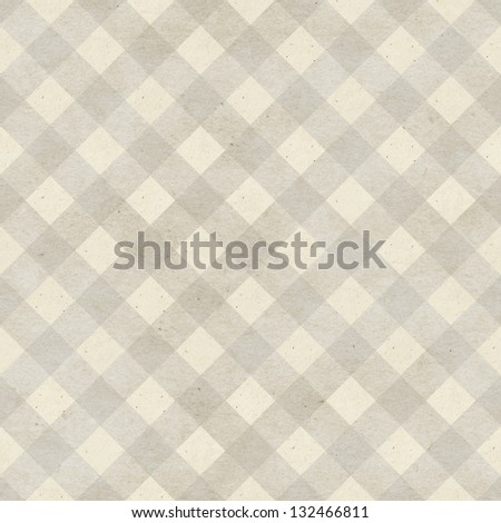 Seamless checked fabric pattern on paper texture. Geometric background