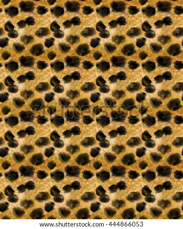 Seamless cheetah skin in watercolor #444866053