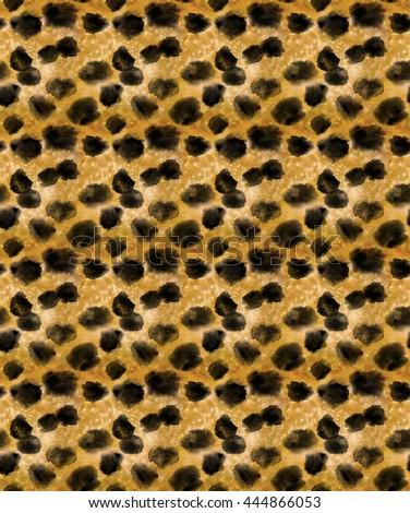 Seamless cheetah skin in watercolor #444866053