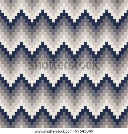 Seamless chevron background. Geometric pattern on paper texture.