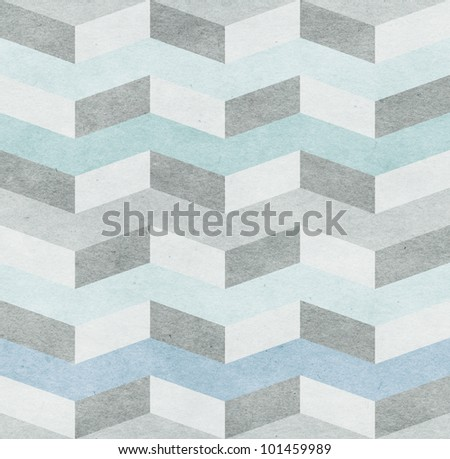 Seamless chevron pattern on old paper texture