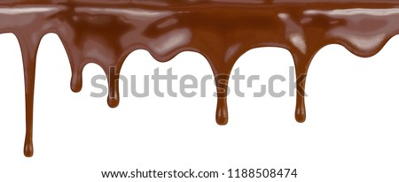 seamless chocolate pattern on white background with clipping path included