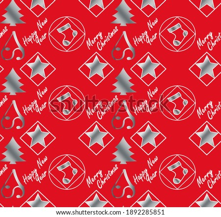 Seamless chrismas pattern, winter style design, chrismas trees and stars, hand painting, wallpaper, Wrapping paper, fashion print