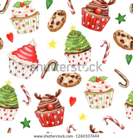 Seamless christmas pattern #1260107644