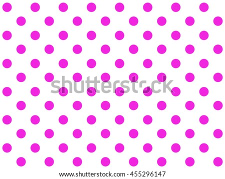 Seamless classic dotted background pink white
