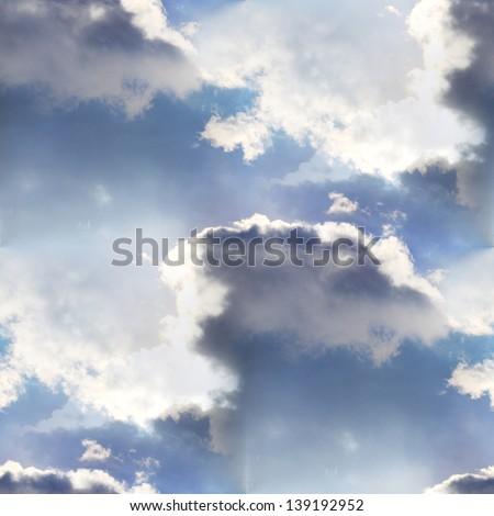 seamless cloud sky blue wallpaper texture
