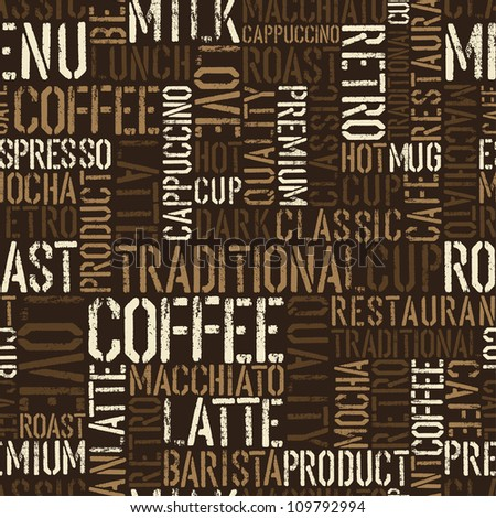 Seamless coffee experience pattern. Raster version, vector file available in portfolio.