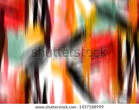 Seamless Colorful Abstract Geometric Strokes Lines Stripes Tie Dye Gradient Degrade Pattern Blurred Background