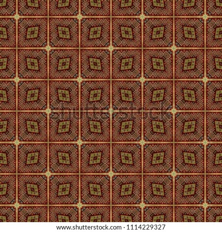 Seamless Colorful Geometric Repeating Tile Pattern #1114229327