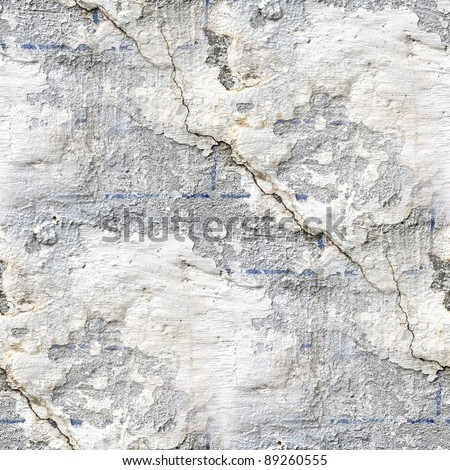 seamless concrete texture of old stone wall with a crack