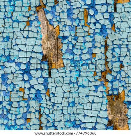 seamless cyan blue crackle...