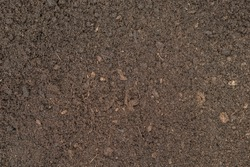 Seamless dark brown compost fertiliser texture background.