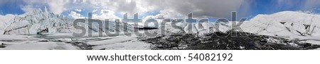 Seamless 360 deg. Panorama of a glacier in Alaska